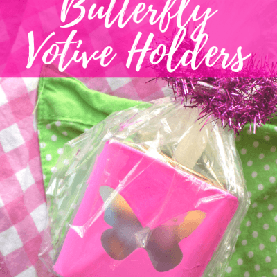 Colorful Upcycled DIY Butterfly Votive Holders Gift