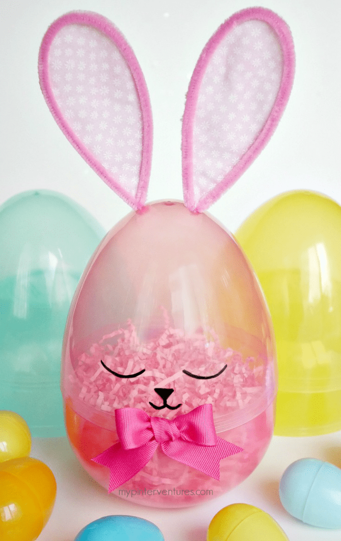 Giant sleepy Easter egg bunny