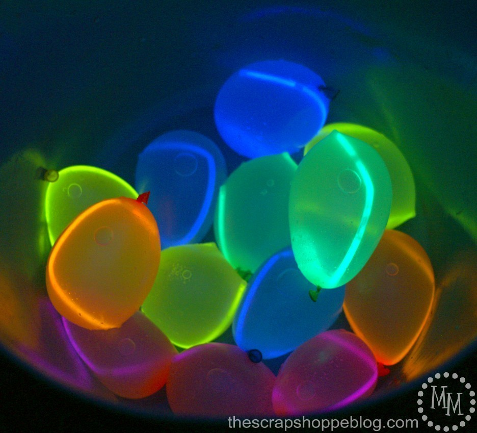 Close Up of Glow in the Dark Water Balloons