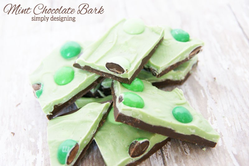 Pile of Mint Chocolate Bark