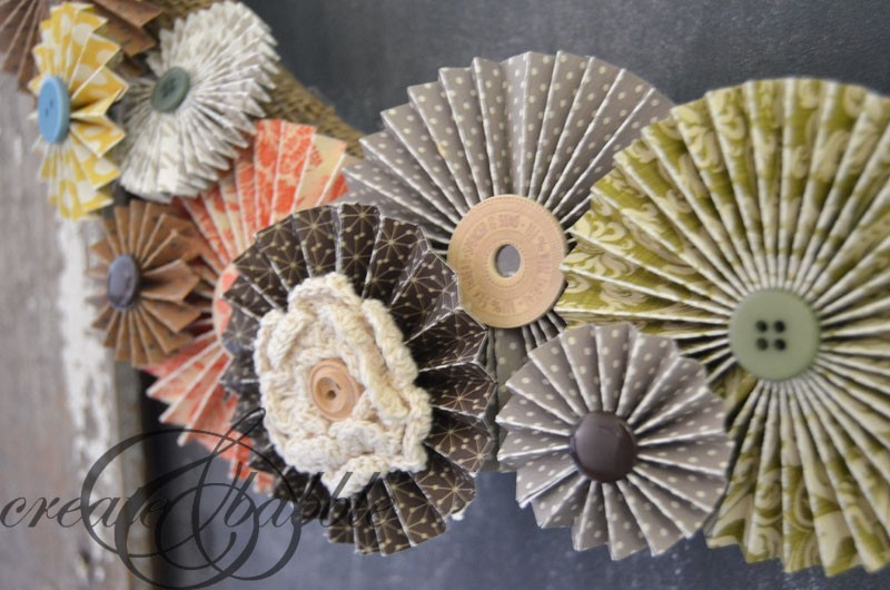 Close up of paper rosettes
