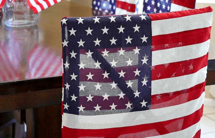 Patriotic Flag Dining Chair Cover