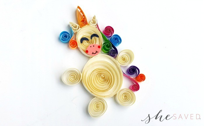 Paper Quilled Unicorn