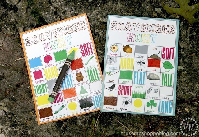 Nature Scavenger Hunt Printables