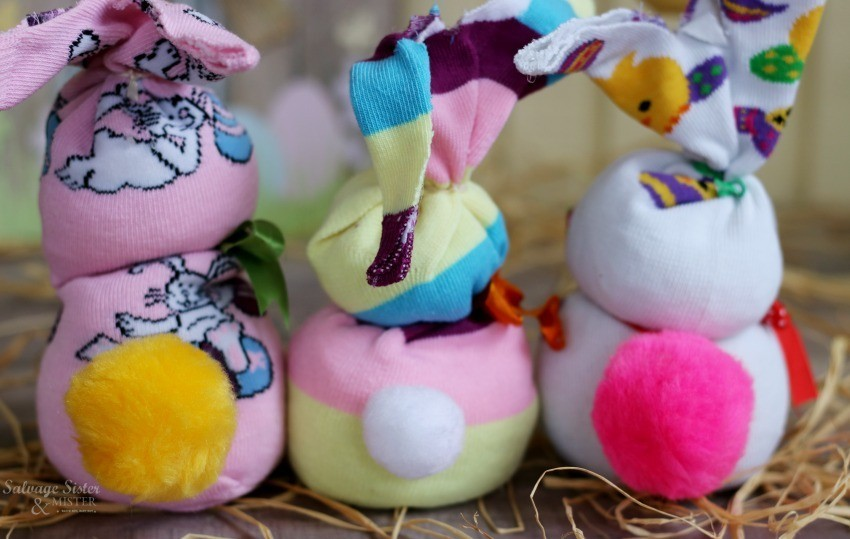 Colorful Sock Bunnies