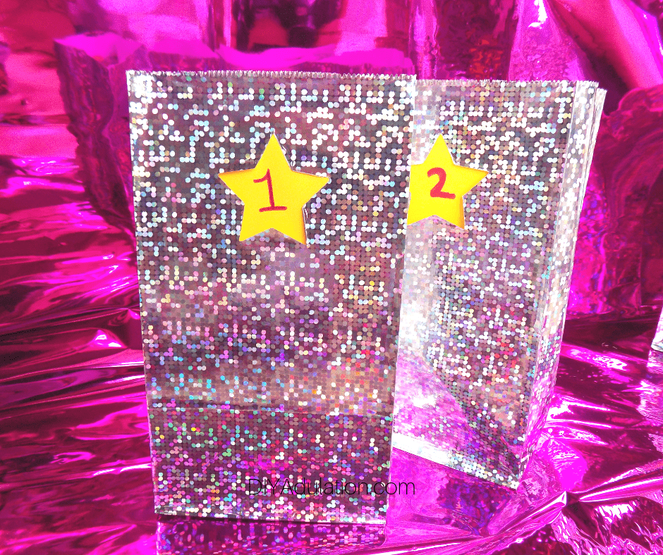 2 Disco Numbered Gift Bags