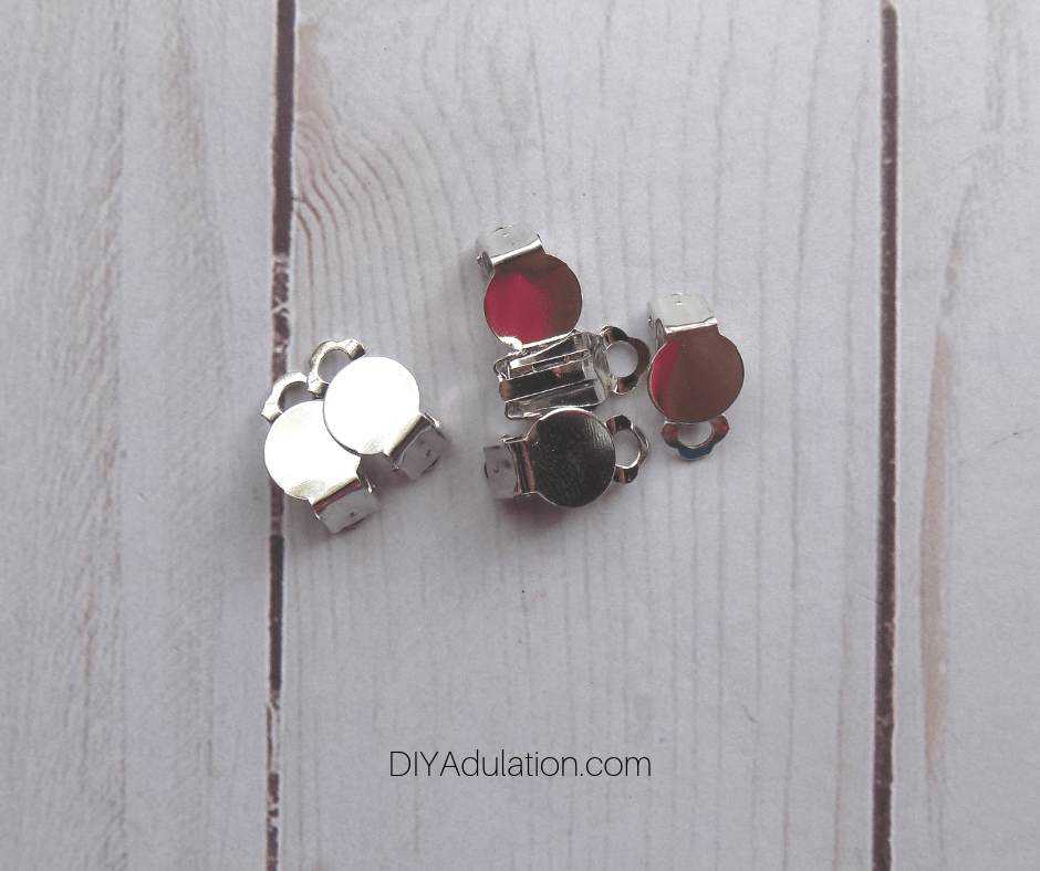 Blank Silver Clip-On Earring Bases