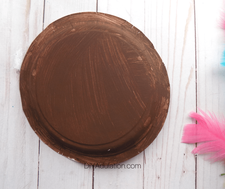 Brown Painted Paper Plate