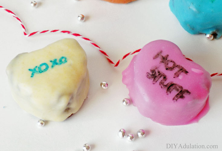 These brownie conversation hearts are the perfect marriage of colorful and delicious!
