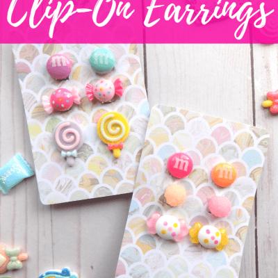 DIY Candy Clip-On Earrings