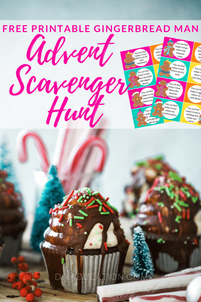 Printable Gingerbread Man Advent Scavenger Hunt
