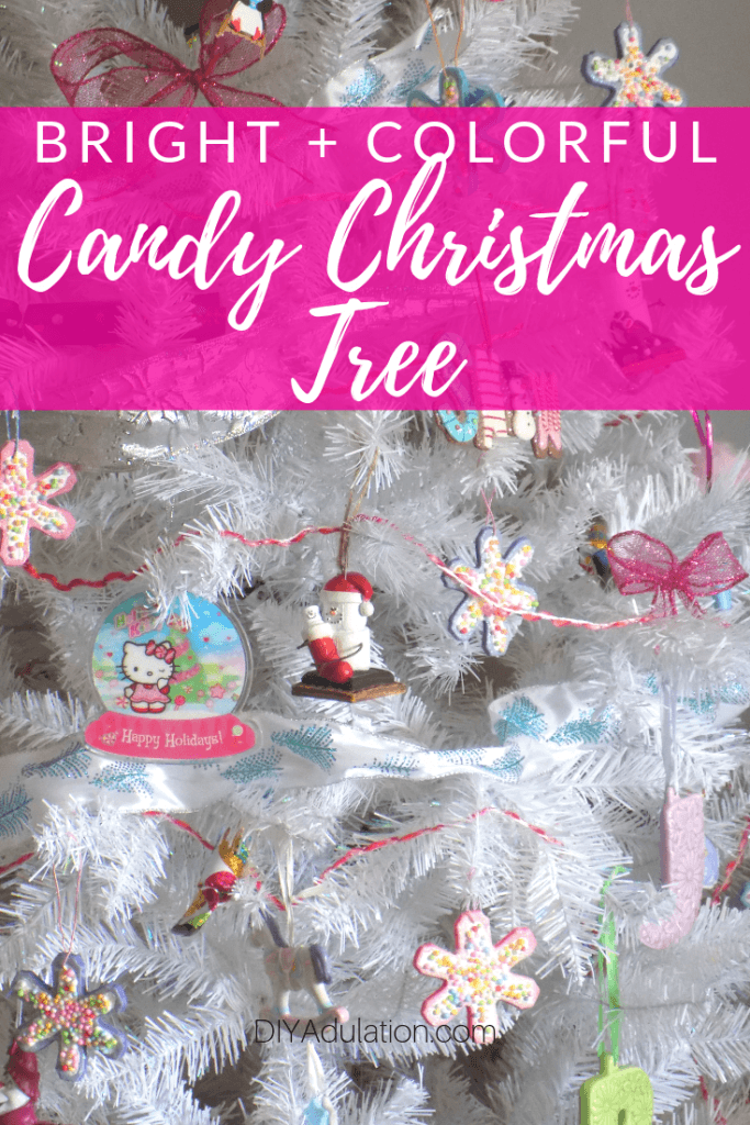 Bright and Colorful Candy Christmas Tree