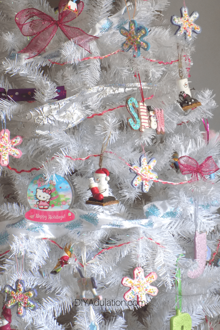 Close Up of Candy Christmas Tree