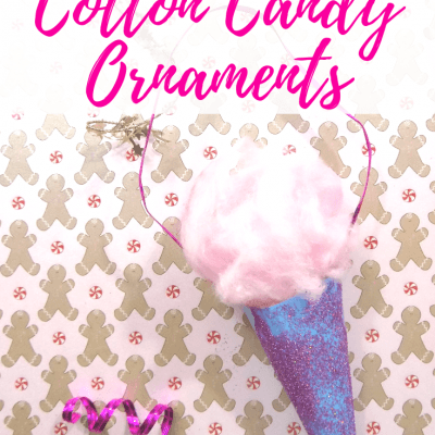 DIY Kids Cotton Candy Ornaments