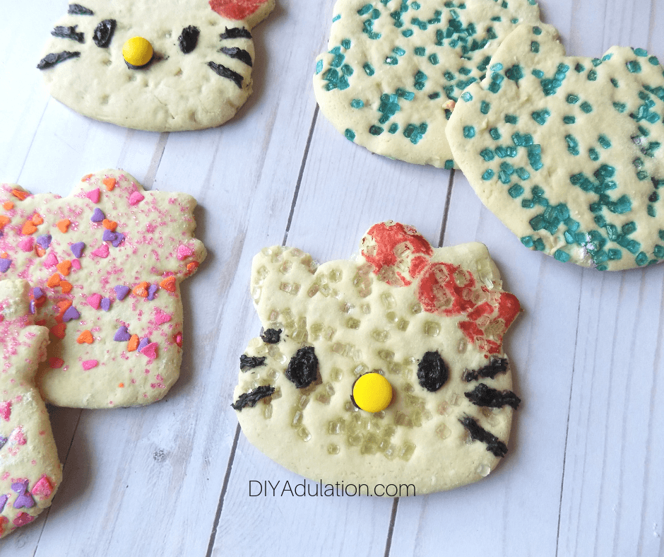 Close Up of Hello Kitty Sugar Cookies