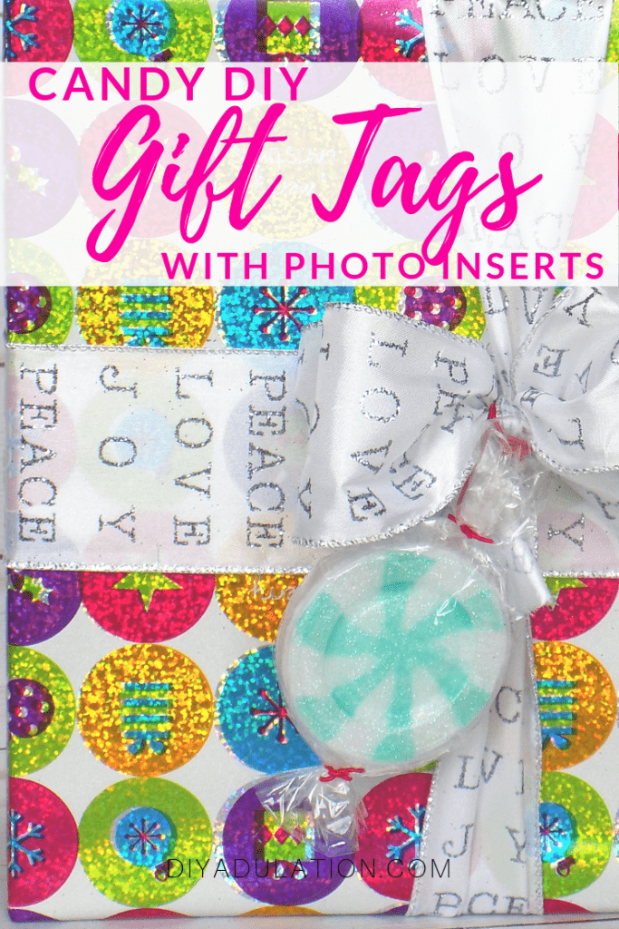 Candy DIY Gift Tags with Photo Inserts