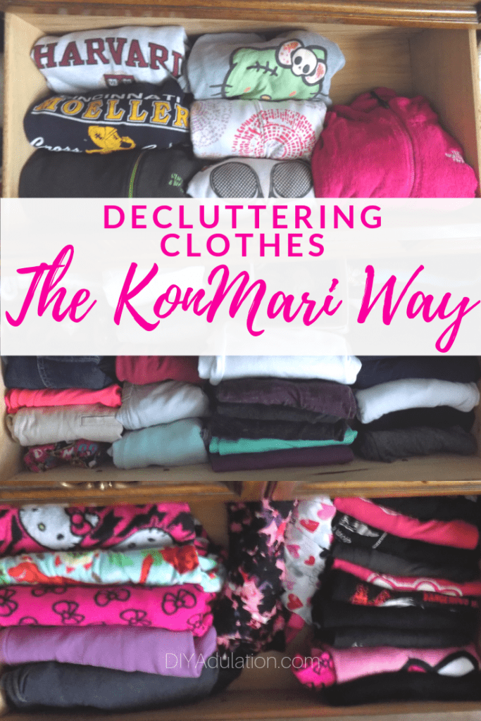 Decluttering Clothes the KonMari Way