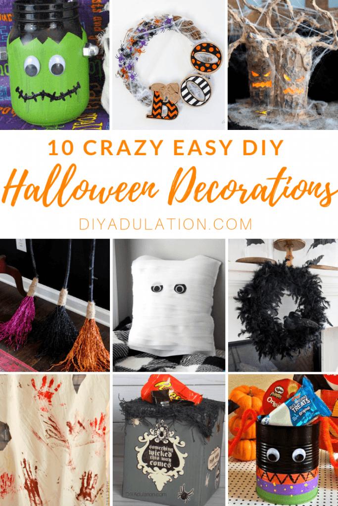 10 Crazy Easy DIY Halloween Decorations