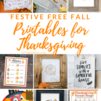 Festive Free Fall Printables for Thanksgiving