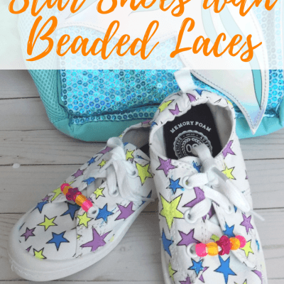 Colorful DIY Stars Shoes with Beaded Laces