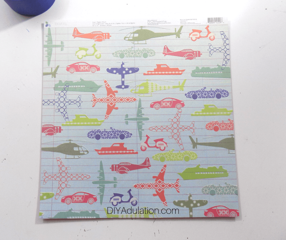 Colorful Travel Sheet of Cardstock