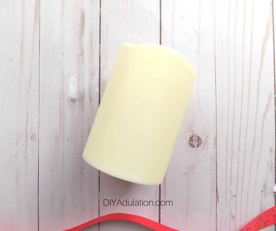 Cream Colored LED Pillar Candle
