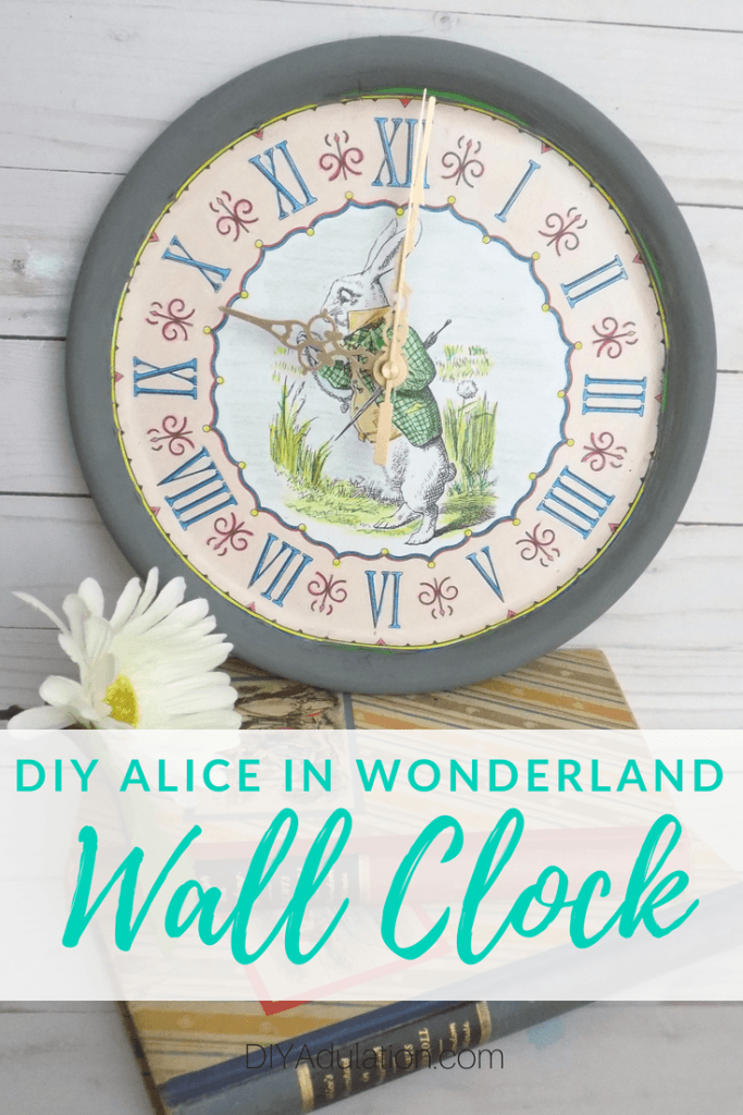 DIY Alice in Wonderland Wall Clock | Movie Monday Challenge