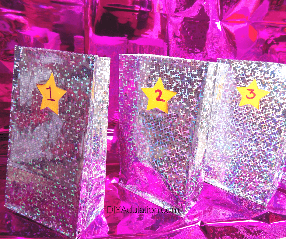 Disco Numbered Gift Bags