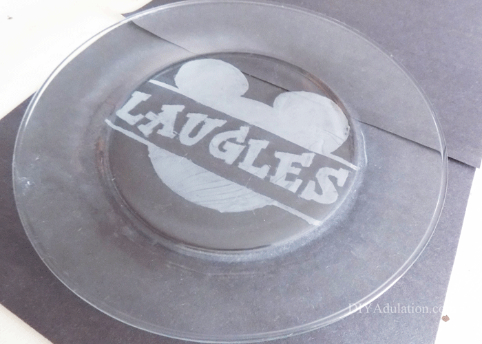 Etched Personalized Mickey Plate