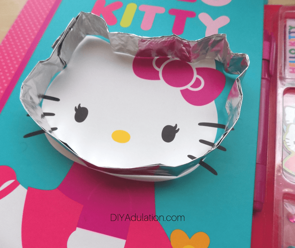 Foil Molded Around Picture of Hello Kitty