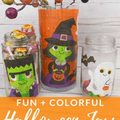 Fun and Colorful Halloween Jars