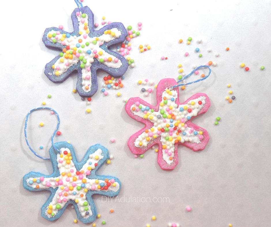 Glittery Snowflake Cookie Ornaments