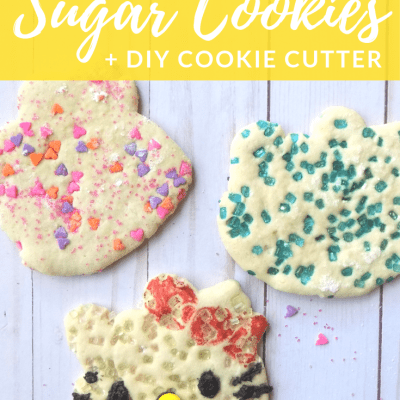 Hello Kitty Sugar Cookies with a DIY Cookie Cutter