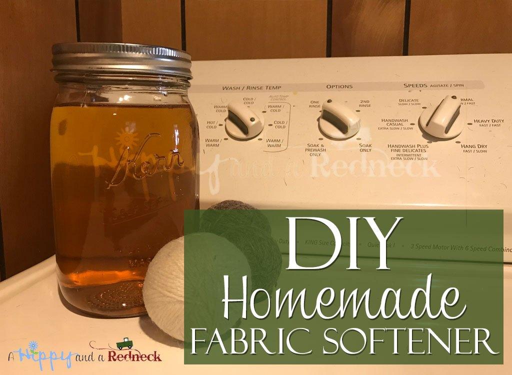 DIY Homemade Fabric Softener on Washer