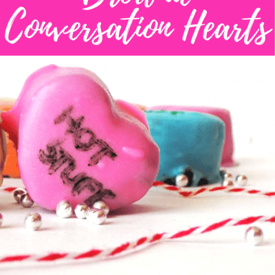 Easy Homemade Brownie Conversation Hearts