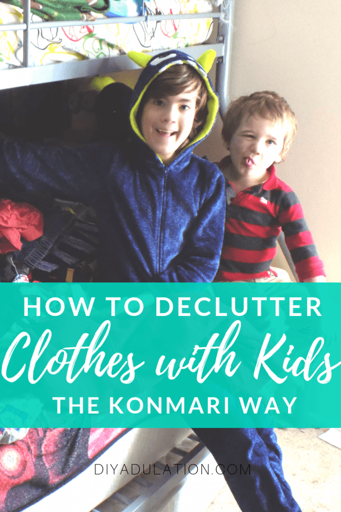 How to Declutter Clothes with Kids the KonMari Way