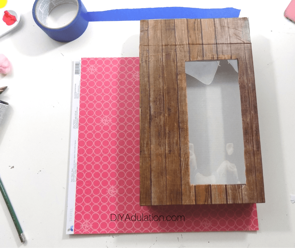 Measuring Decorated Box On Cardstock