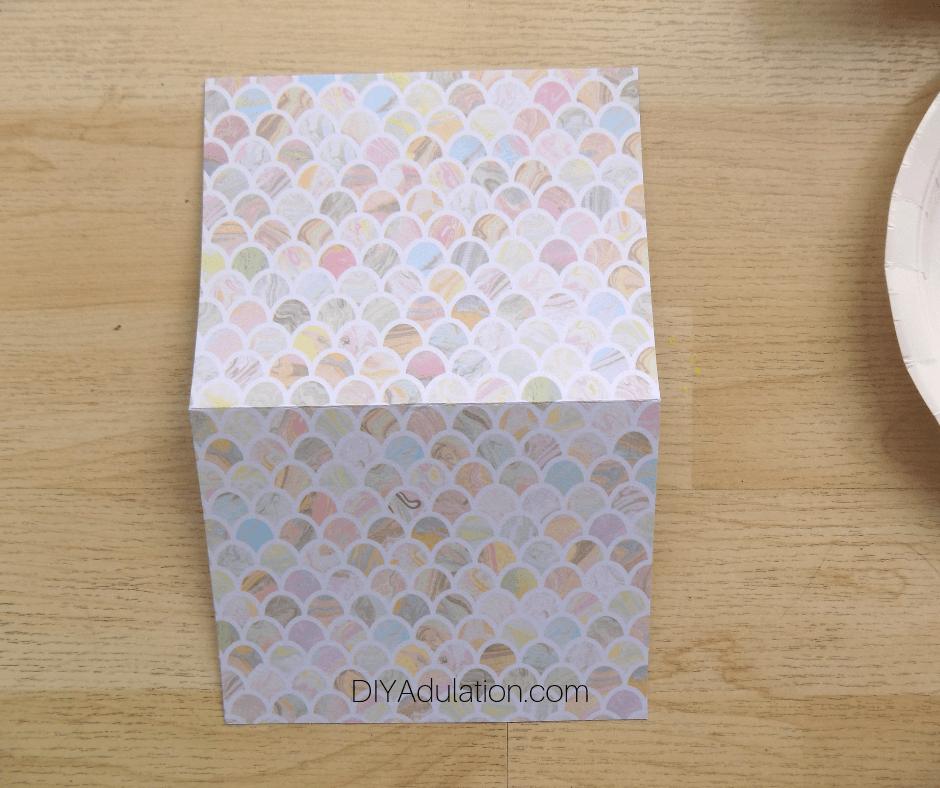 Open Pastel Card