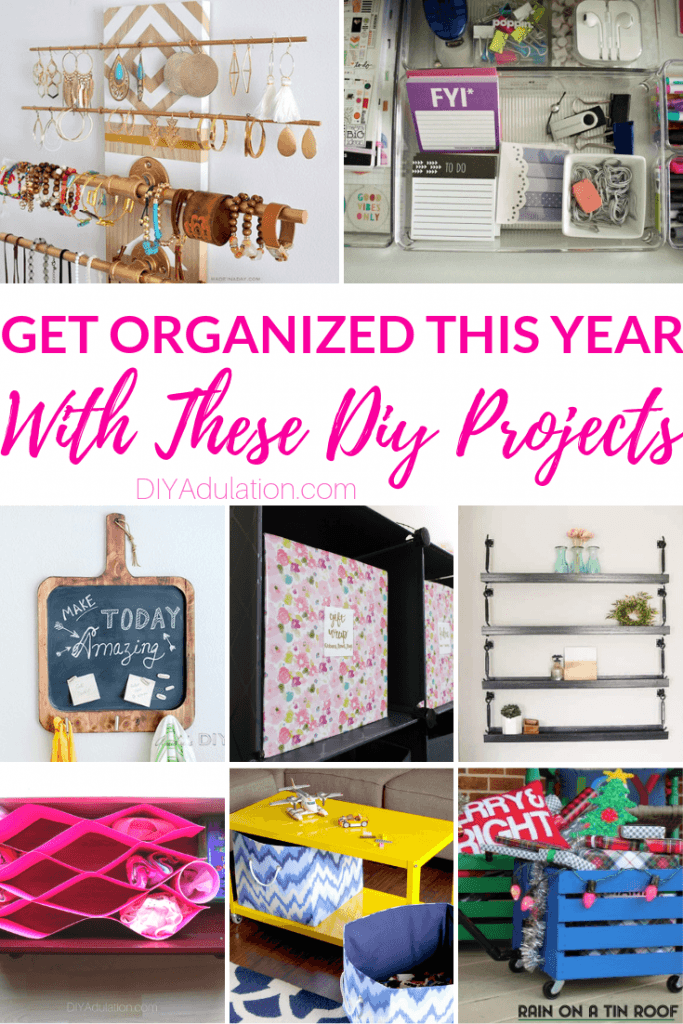 Get Organized This Year with these DIY Projects