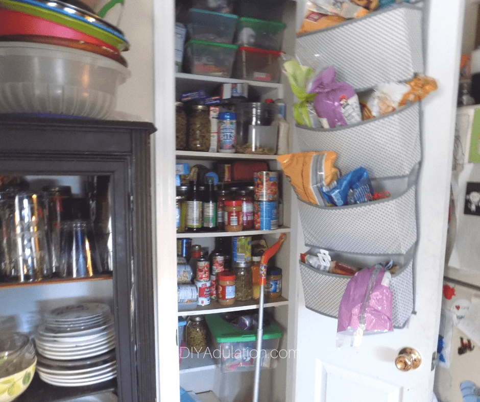 Overflowing Pantry in Kitchen