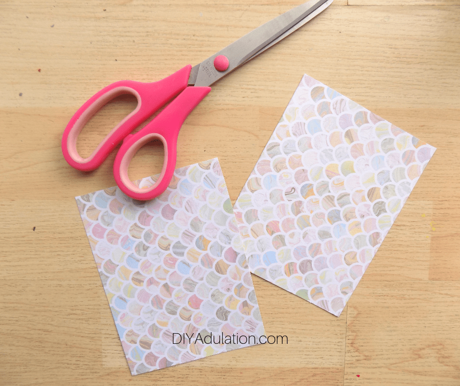 Pastel Card Cut In Half