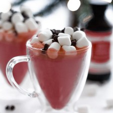 cups full of red velvet hot chocolate