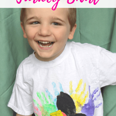DIY Hand Print Turkey Shirt | Thanksgiving Kids Craft