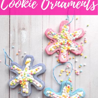 DIY Snowflake Cookie Ornaments | Easy Christmas Craft