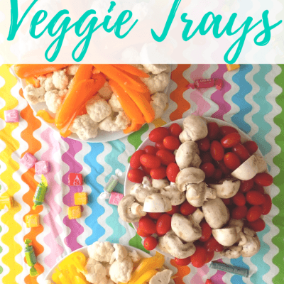 Candy Themed Veggie Trays for the Holidays