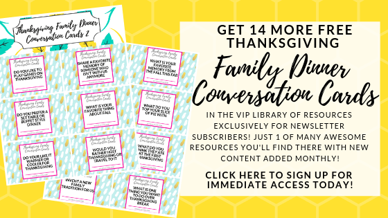 Subscriber Thanksgiving Conversation Cards