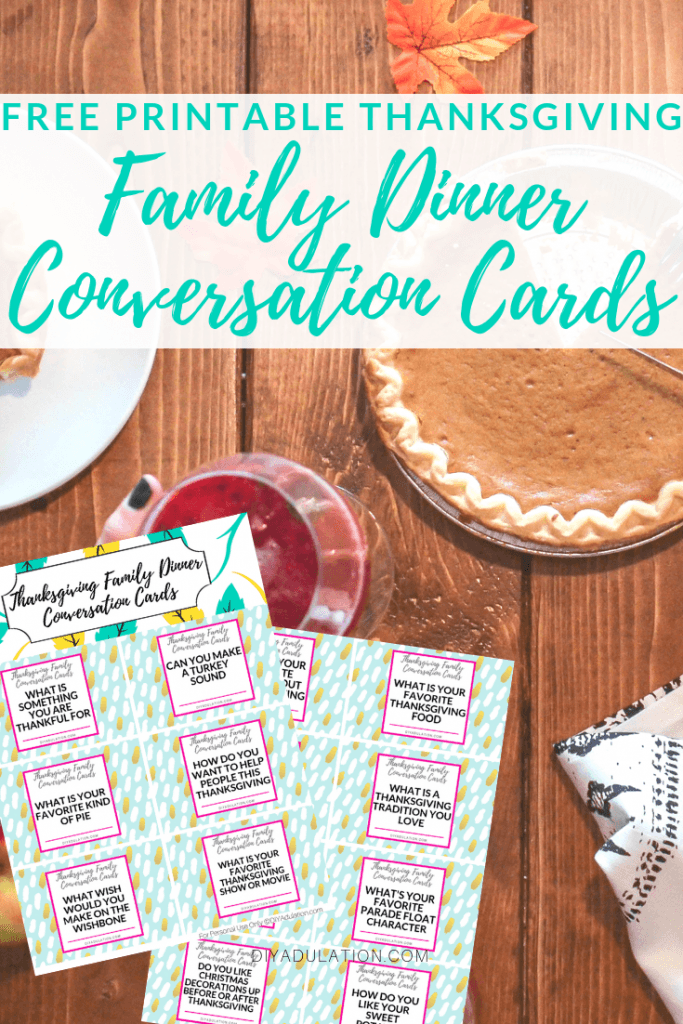 Free Printable Thanksgiving Family Dinner Conversation Cards
