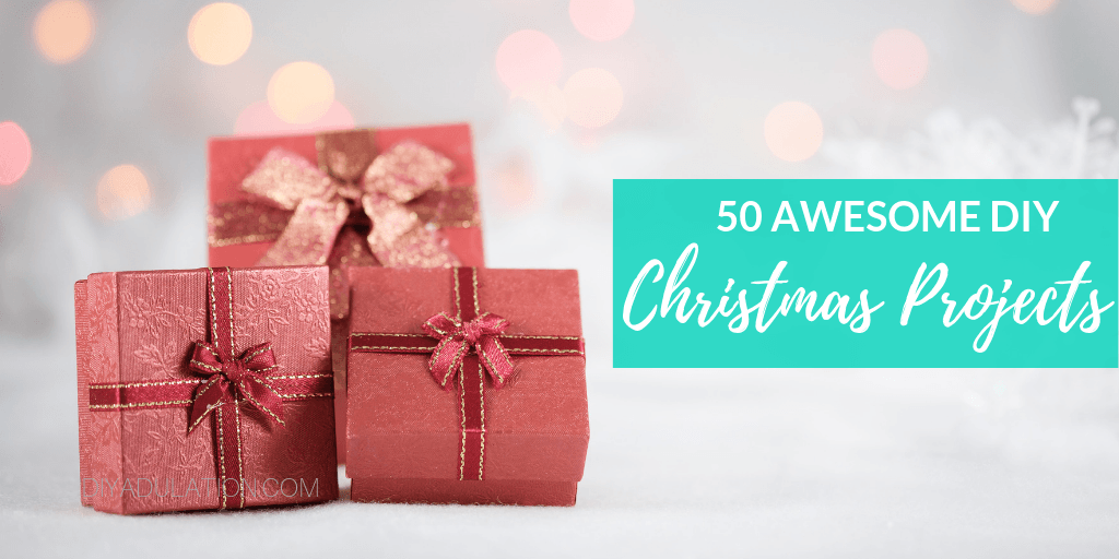 Presents under a Christmas Tree with text overlay - 50 Awesome DIY Christmas Ideas