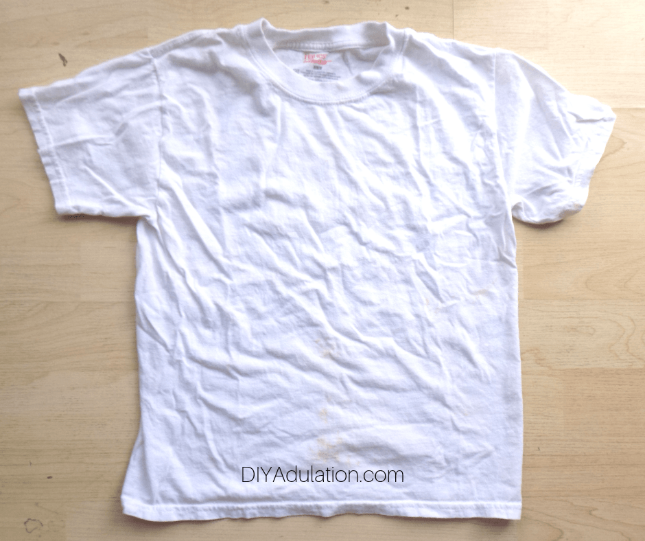 White T-Shirt Laying Flat