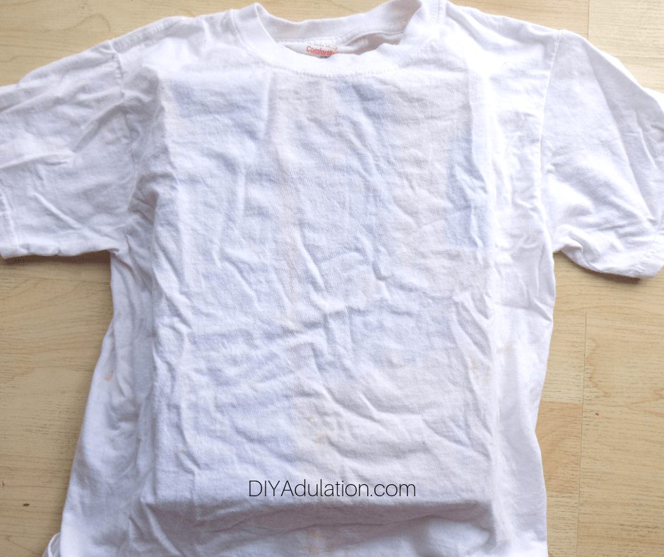 White T-Shirt with Box Inside